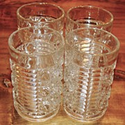 "Federal Glass Co. ""Windsor"" Pattern Clear Tumbler, Set of 4"