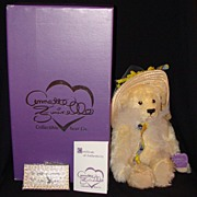 "Annette Funicello ""The Beekeeper"" Limited Edition Mohair Teddy Bear, MIB."