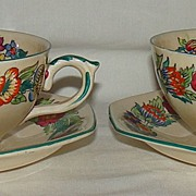"Mason's Ironstone China ""Nell Gwyn"" Cup and Saucer, Set of 2"