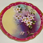 "Pickard China Maxwell Rean Klipphahn ""Seville Orange Flower"" Cake Plate, Delinieres"