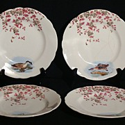 A. Klingenberg Carlsbad Porcelain Game Plate, Set of 4.