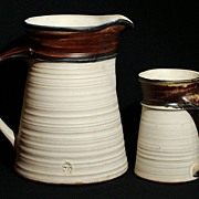 Pacific Stoneware, Inc. B. Welsh Hand Thrown Pitcher & Mug