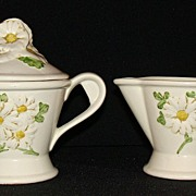 "Metlox Poppy Trail ""Sculptured Daisy"" Creamer & Sugar"