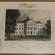 "John Tallis & Company ""Capitol of North Carolina, Raleigh"" Hand Colored Engraving"
