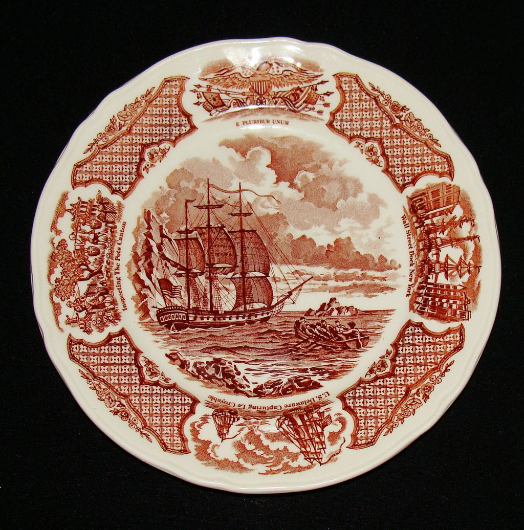 Alfred Meakin Fair Winds Salad Plate, Set of 5