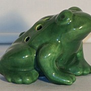 Art Pottery Green Flower Frog