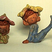 "Vintage ""Pixie"" Figurines, Set of 4,"