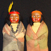 Skookum Bully Good Indian Girl & Boy Doll