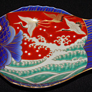 Fukagawa Porcelain Imari Fish Dish