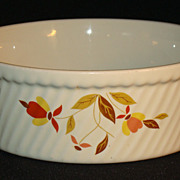 Hall China Autumn Leaf French Baker Casserole Dish
