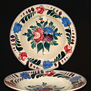 "Utzchneider & Co. Sarreguemines French Faience ""Foret Vosges"" Soup Bowls, Set of 2"