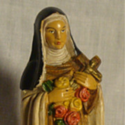 Vintage Saint Therese of Lisieux St. Resin Figurine, #52, Italy
