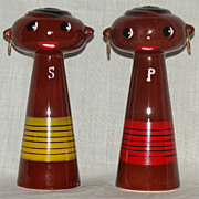 Del Coronado Nasco Product, Japan Black Caribbean Islander Salt and Pepper Shakers