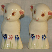 Rio Hondo Pottery Figural Lamb Salt and Pepper Shakers