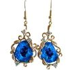 Blueberry Azurite Geodes Diamonds 14k Gold Earrings - Lori Earrings