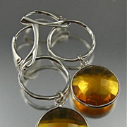 Earrings ~ Lollipops:  BUTTER RUM ~ Cognac Quartz & Sterling Silver