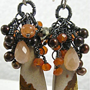 Earrings ~ BLOOMIN' HARVEST ~ Blooming with Gemstones