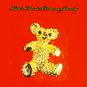 Teddy Bear Figural Pin -- Gerry's -- 60s