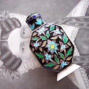 Sterling 925 Enamel Perfume Bottle