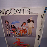 Vintage McCall Doll Pattern for Darci & Barbie!