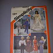 Simplicity 11 1/2&quot; Doll Pattern -Barbie & High Heeled Fashion Dolls!