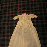 Beautiful long sheer white antique doll baby gown!