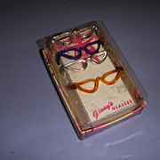 HTF Vintage Boxed Set of 4 Vogue Ginny Glasses!