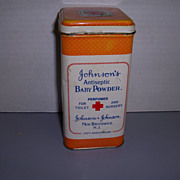 Vintage Johnson's Baby Powder Tin!