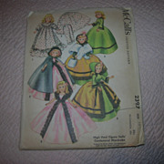 "McCall's Vintage High Heel Fashion Doll Pattern for 10 1/2"" Dolls."