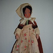 SALE Early Ethnic Cloth Doll All Original!