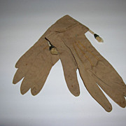 Vintage Large Doll Brown Cloth Glove