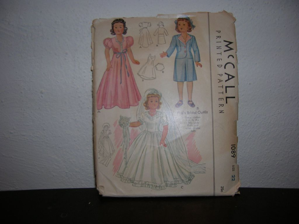 McCall Vintage McCall Doll Pattern for Effanbee Little Lady and other similar 22&quot; dolls