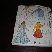 Vintage McCall Doll Pattern for Effanbee Little Lady and some of the Movie Doll and other simi