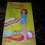 "Vintage ""Tammy and Pepper "" Paper Doll Activity Book Uncut !"