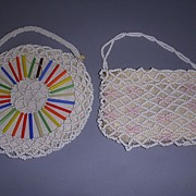 Pair of Antique Doll or Child's Beaded Purses!