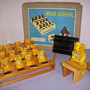 Vintage Teddy Bear School MIB!