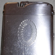 Ronson Chrome Cigarette Case and Lighter Combo - Fab 1950's