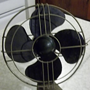 Vintage AC Gilbert Polar Cub Electric Oscillating Desk Fan