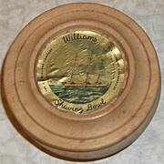 Wooden Lidded Advertising Shaving Bowl by J.P. Williams