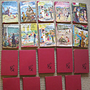 Vintage set of Happy Hollisters H/C books - with and w/o dust jackets