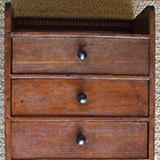 Charming Small Antique Walnut Hanging Chest or Spice Box