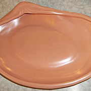 Metlox Poppy Trail Large Peach Oyster Shell Bowl
