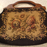 Nice Tapestry Carpetbagger Styled Purse - 1900's