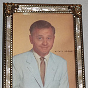 Vintage Mickey Rooney Print in MOP Frame