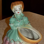 Southern Belle Gold Trimmed Lady Planter