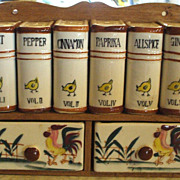 "Condiment ""Book"" Spice Set with Chickens and Roosters!"