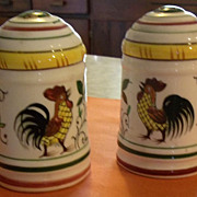 Roosters and Roses Handled Shakers by PY Ucagco Japan