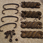 Victorian Furniture Handles or Pulls (4) with Hardware