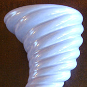 Vintage Periwinkle CAMARK Cornucopia Vase