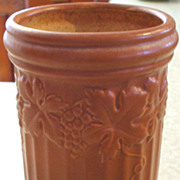 Cylindrical Soft Orange Scheurich Keramik West Germany Tall Vase